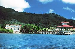 Truk Stop Hotel and Pier viewed from the water